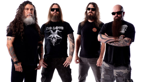 LEFT TO RIGHT:  Tom Araya, Gary Holt, Paul Bostaph, Kerry King